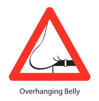 Signs of Ageing - overhanging belly