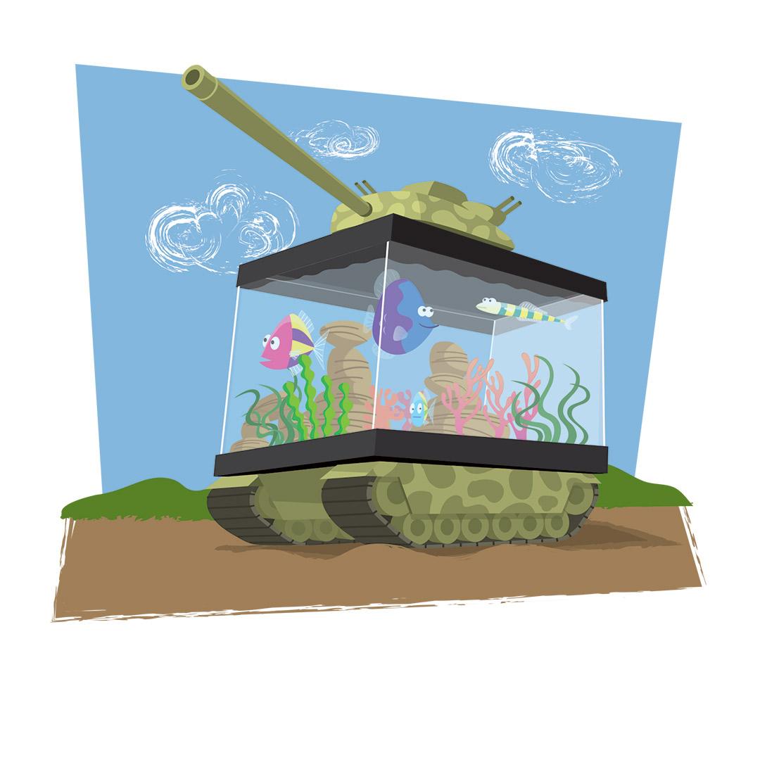 Fish Friday cartoon - Fish Tank