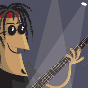 Bass Guitar fish pun thumbnail image
