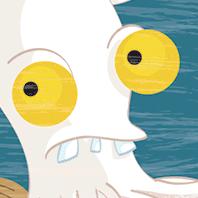 Fish pun cartoon, Billy the Squid