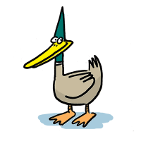 Pointy headed duck