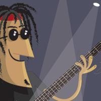 Bass Guitar fish pun thumbnail image